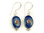 Oval shaped earrings with lapislazuli