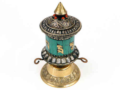 Prayer wheel on stand