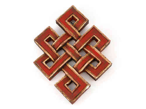 Small wooden endless knot wall hanging.