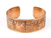 Copper bracelet with 8 auspecious signs.