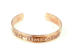 "Copper bracelet with mantra ""OM MANI PEDME HUM""."