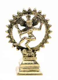 SMALL GOLDEN SHIVA STATUE
