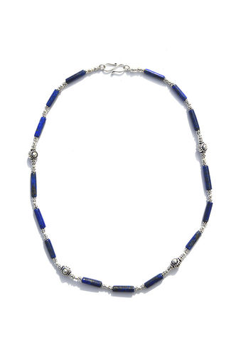 Silver necklace and Lapis Lazuli